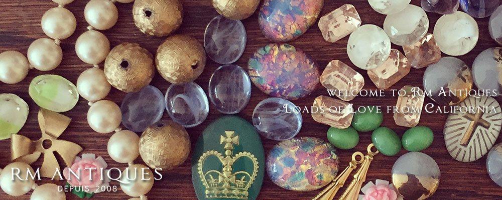 ヴヴィンテージ アクセサリー コスチュームジュエリー ヴィンテージアクセサリーパーツ&ビーズの販売 Rm Antiques【アールエム