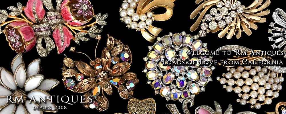 ヴィンテージアクセサリー コスチュームジュエリー ヴィンテージパーツ&ビーズ トリファリ アンティーク手芸雑貨の販売 Rm Antiques【アールエム アンティークス】はカリフォルニアよりエアメールでお届けしています